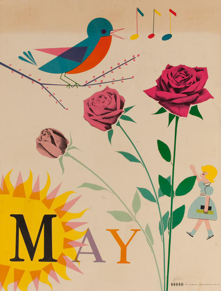 May Songbird, Color Print Holiday Poster Series, School Print