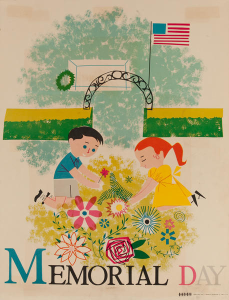 Memorial Day, Color Print Holiday Poster Series, School Print