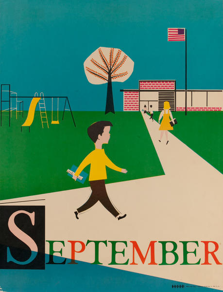 September, Back to School, Color Print Holiday Poster Series, School Print