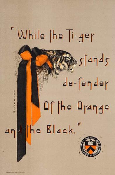 Original Princeton University Vintage Poster