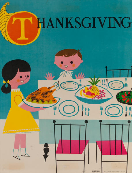 Thanksgiving, Color Print Holiday Poster Series, School Print