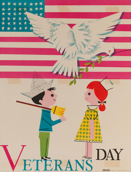 Veterans Day, Color Print Holiday Poster Series, School Print