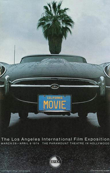 Los Angeles International Film Exposition Poster 1974 California Movie