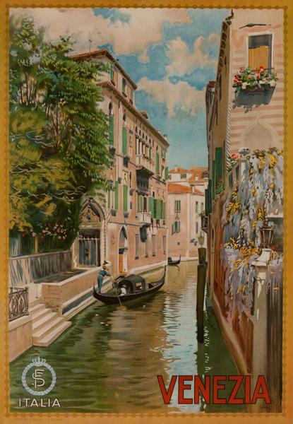 Venezia Italia Travel Poster Venice Italy