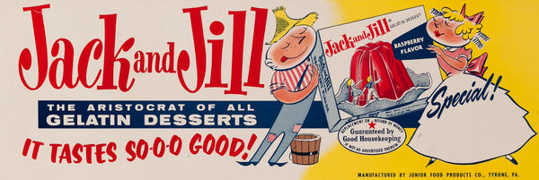 Jack and Jill Jello Advertising Poster