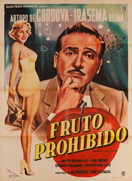 Fruto Prohibido, Mexican Movie Poster, Forbidden Fruit