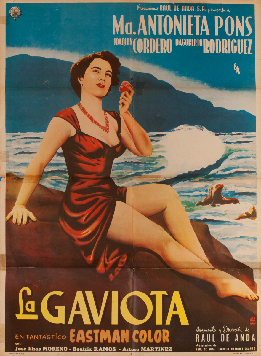 La Gaviota, Mexican Movie Poster, The Seagull