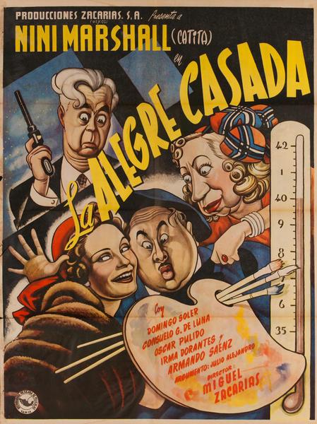 La Alegre Casada, Mexican Movie Poster