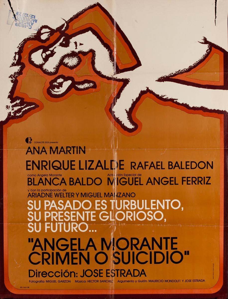 Ángela Morante, ¿crimen o suicidio? Mexican Movie Poster