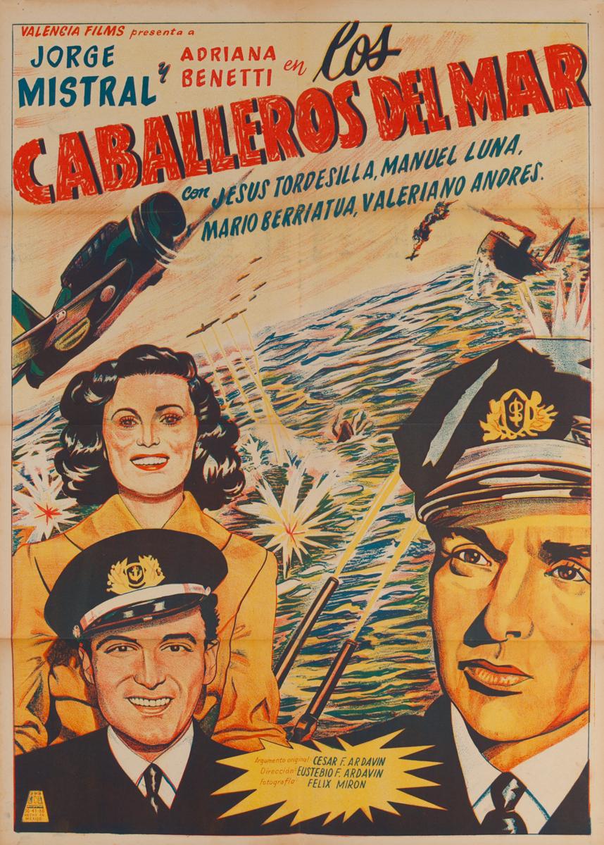 Los Caballeros del Mar, Mexican Movie Poster