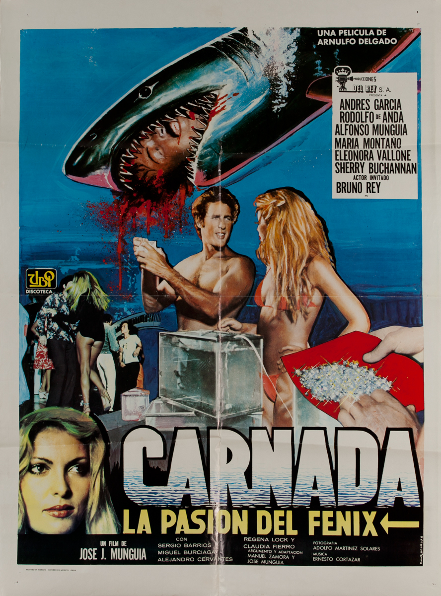 Carnada, La Pasion Dal Fenix, Mexican Movie Poster