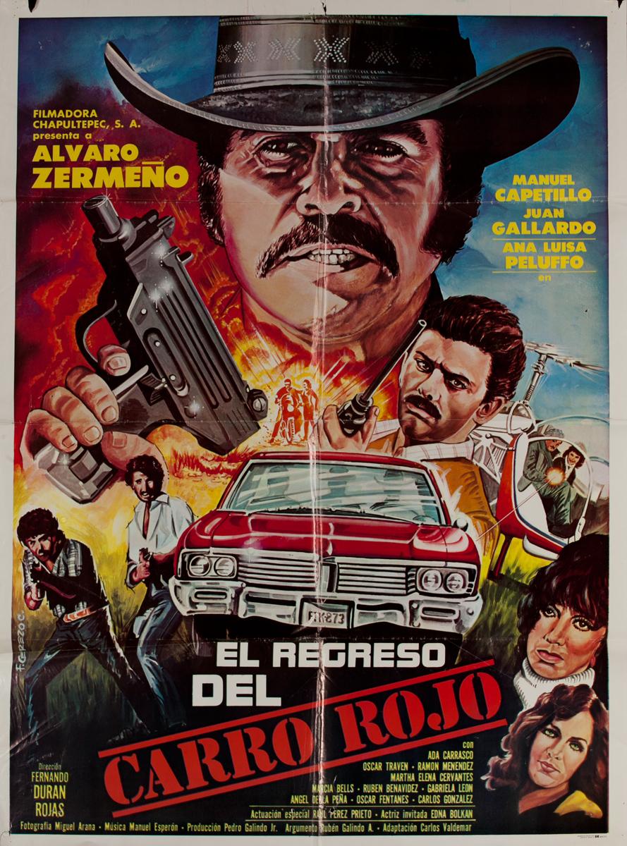El Regreso del Carro Rojo, Mexican Movie Poster