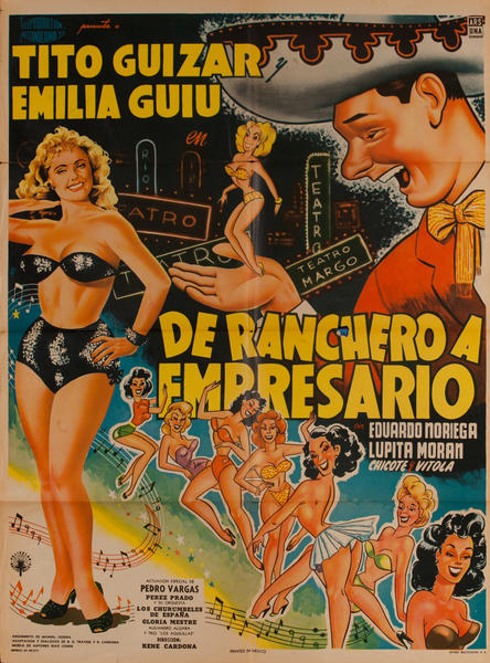 De Ranchero a Empresario, Mexican Movie Poster