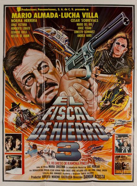 El Fiscal de Hierro 3, Mexican Movie Poster