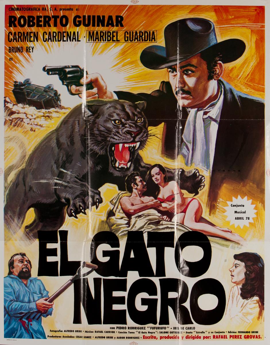 El Gato Negro, Mexican Movie Poster, The Black Cat