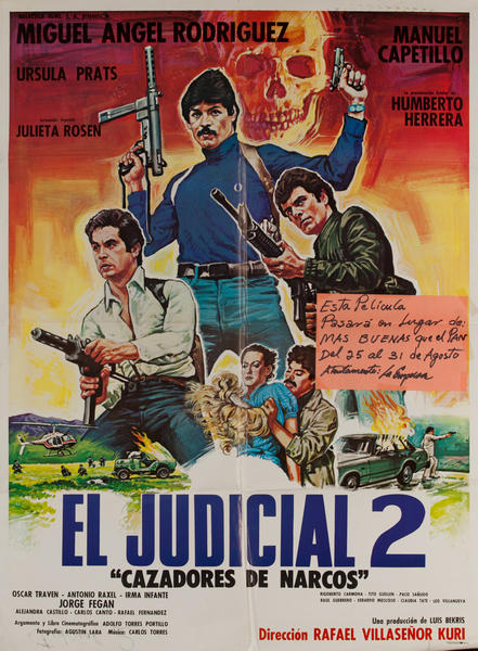 El Hombre Sin Miedo, Mexican Movie Poster, The Man Without Fear