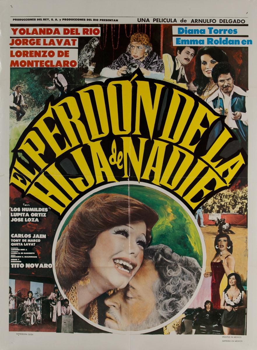 El Perdon de la Hija de Nadie, Mexican Movie Poster