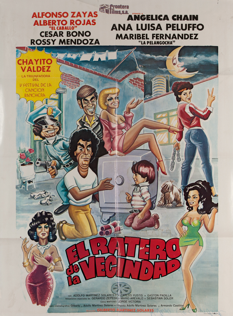 El Ratero de la Vecindad,Mexican Movie Poster, The Neighborhood Thief