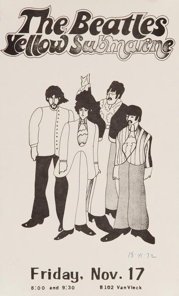 The Beatles Yellow Submarine, Movie Poster (B&W)