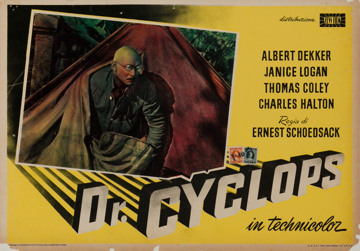 Dr. Cyclops Italian Release Horror Movie Poster