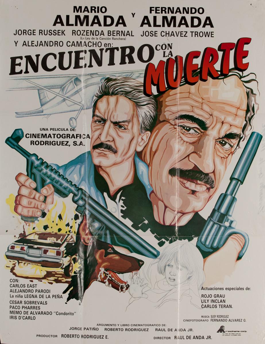 Encuentro con la Muerte, Mexican Movie Poster, Encounter with Death