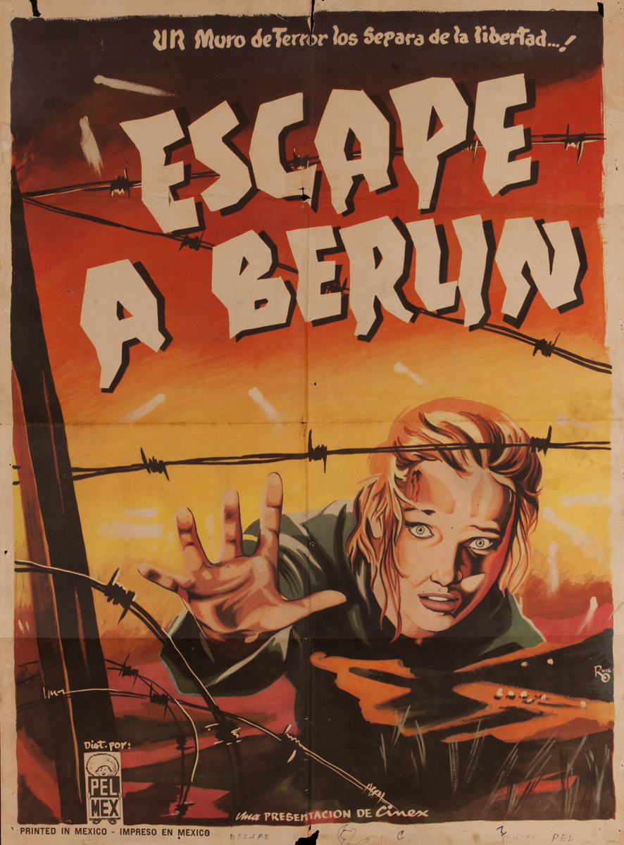 Escape a Berlin, Mexican Movie Poster