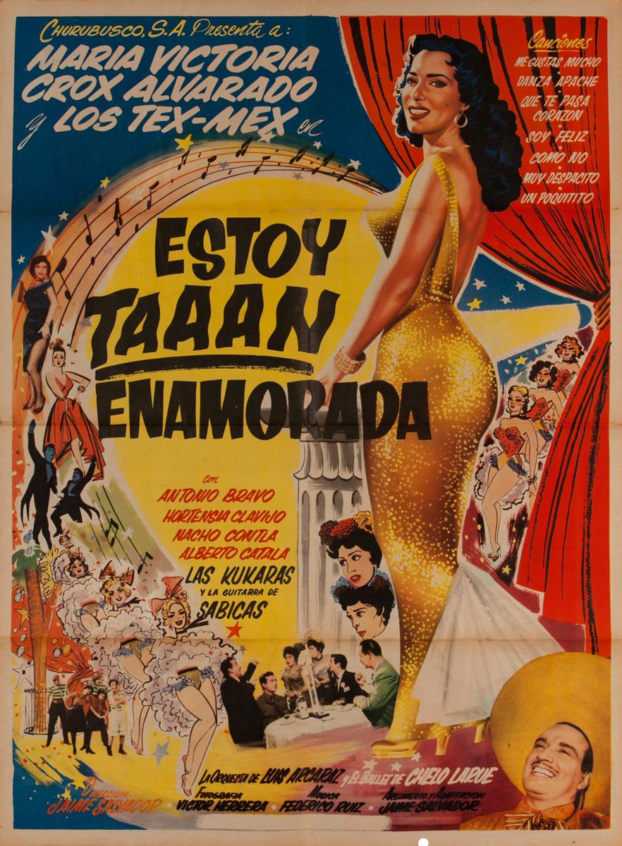 Estoy Taaan Enamorada, Mexican Movie Poster, I'm so in love...