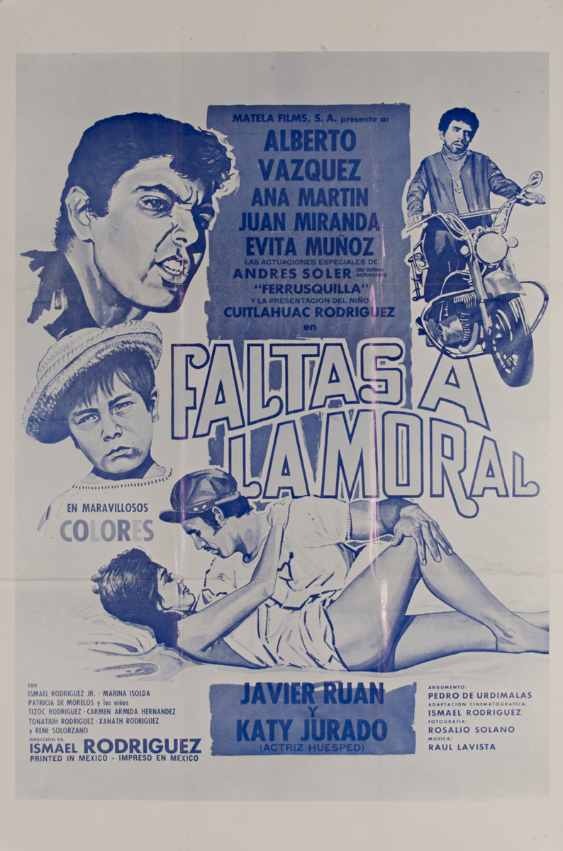 Faltas A La Moral, Mexican Movie Poster, Indecency
