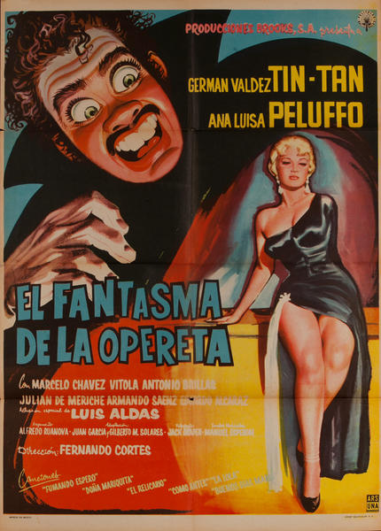 El Fantasma de la Opereta, Mexican Movie Poster, The Phantom of the Operetta
