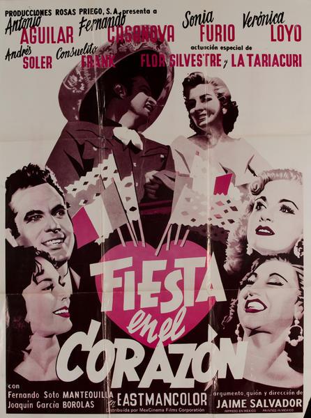 Fiesta en el Corazon, Mexican Movie Poster
