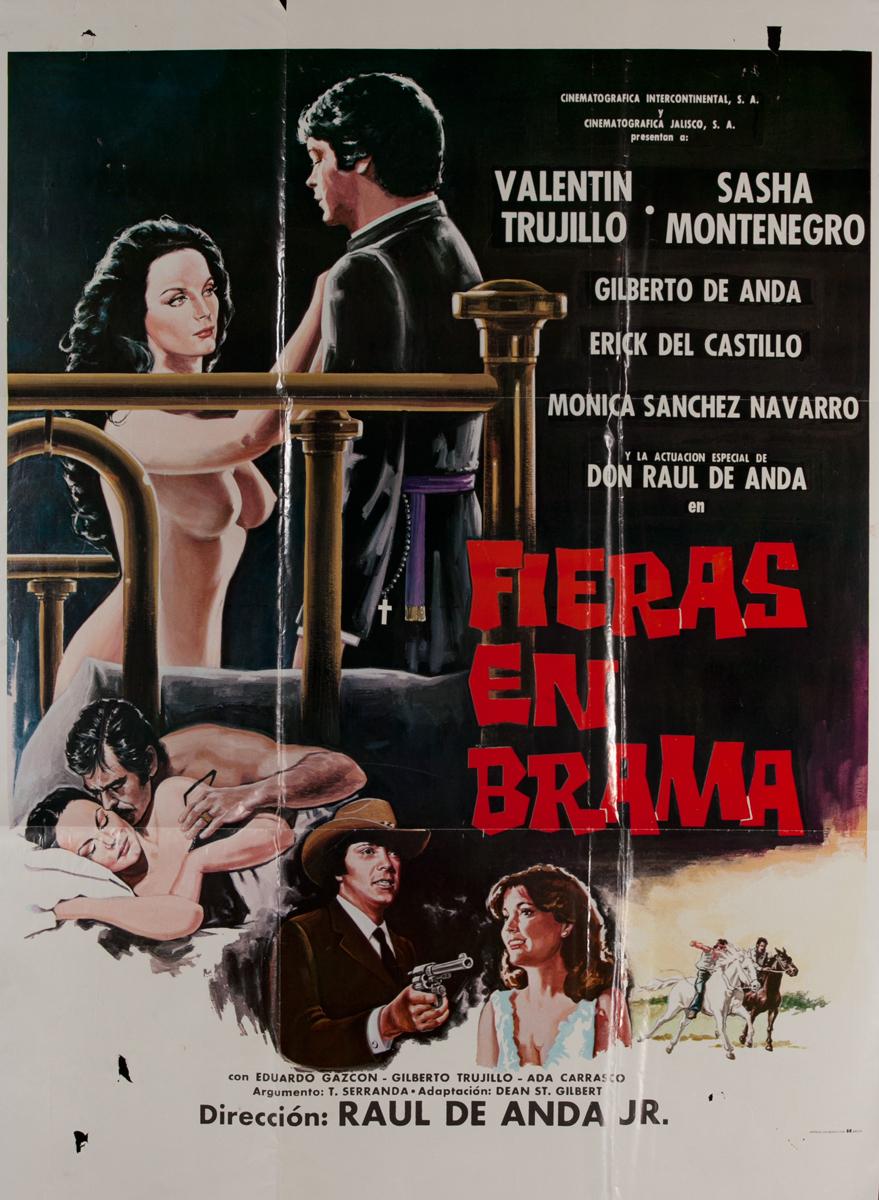 Fieras en Brama, Mexican Movie Poster