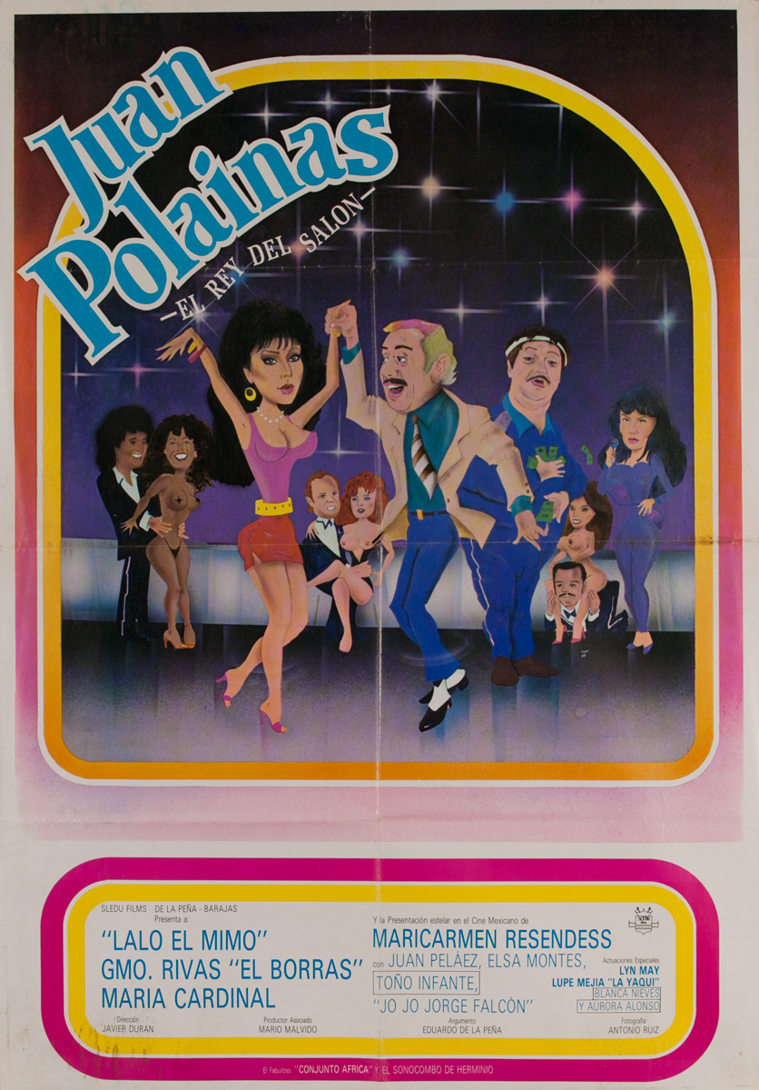 Juan Polainas El Rey Del Salon, Mexican Movie Poster