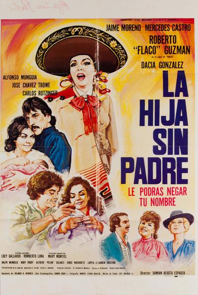 La Hija Sin Padre, Mexican Movie Poster