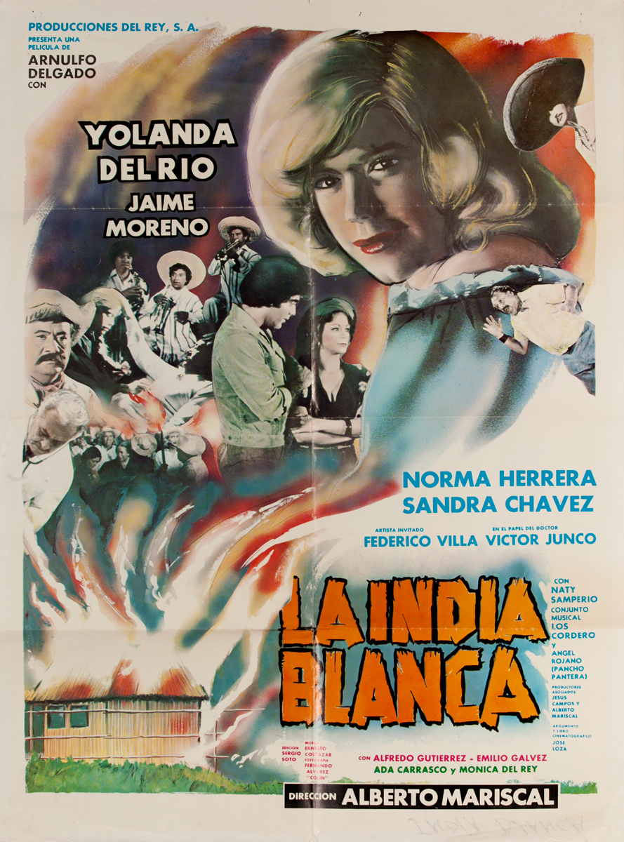 La India Blanca, Mexican Movie Poster