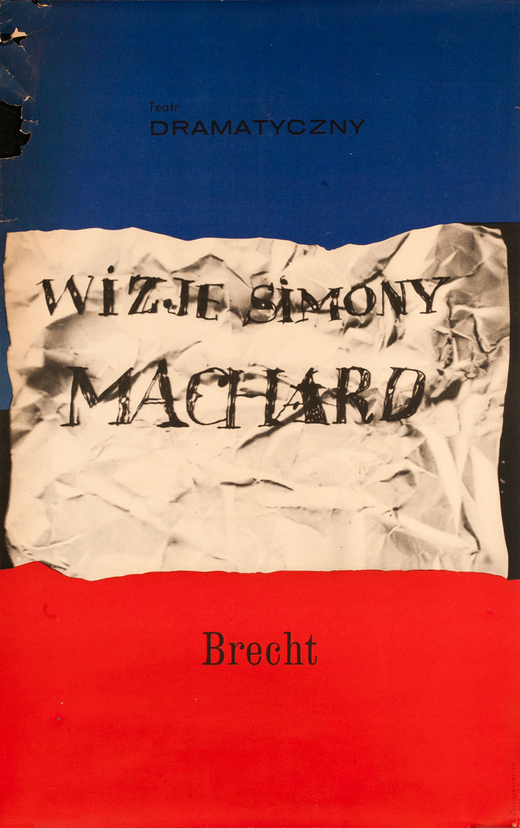 Wizje Simony Machard,  Brecht Polish Theater Poster