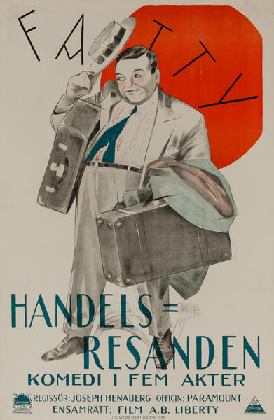 Handels Resanden Komedi I Fem Akter, Swedish Movie Poster