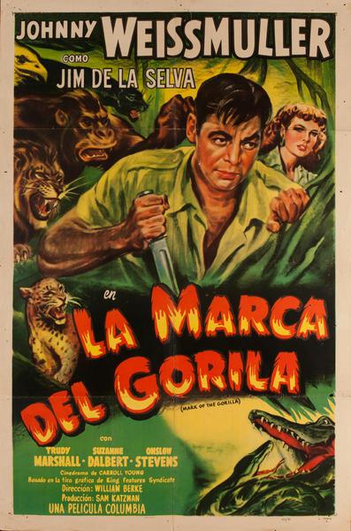 La Marca Del Gorila, Mexican Movie Poster, Mark of the Gorilla