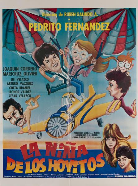 La Niña de los Hoyitos, Mexican Movie Poster