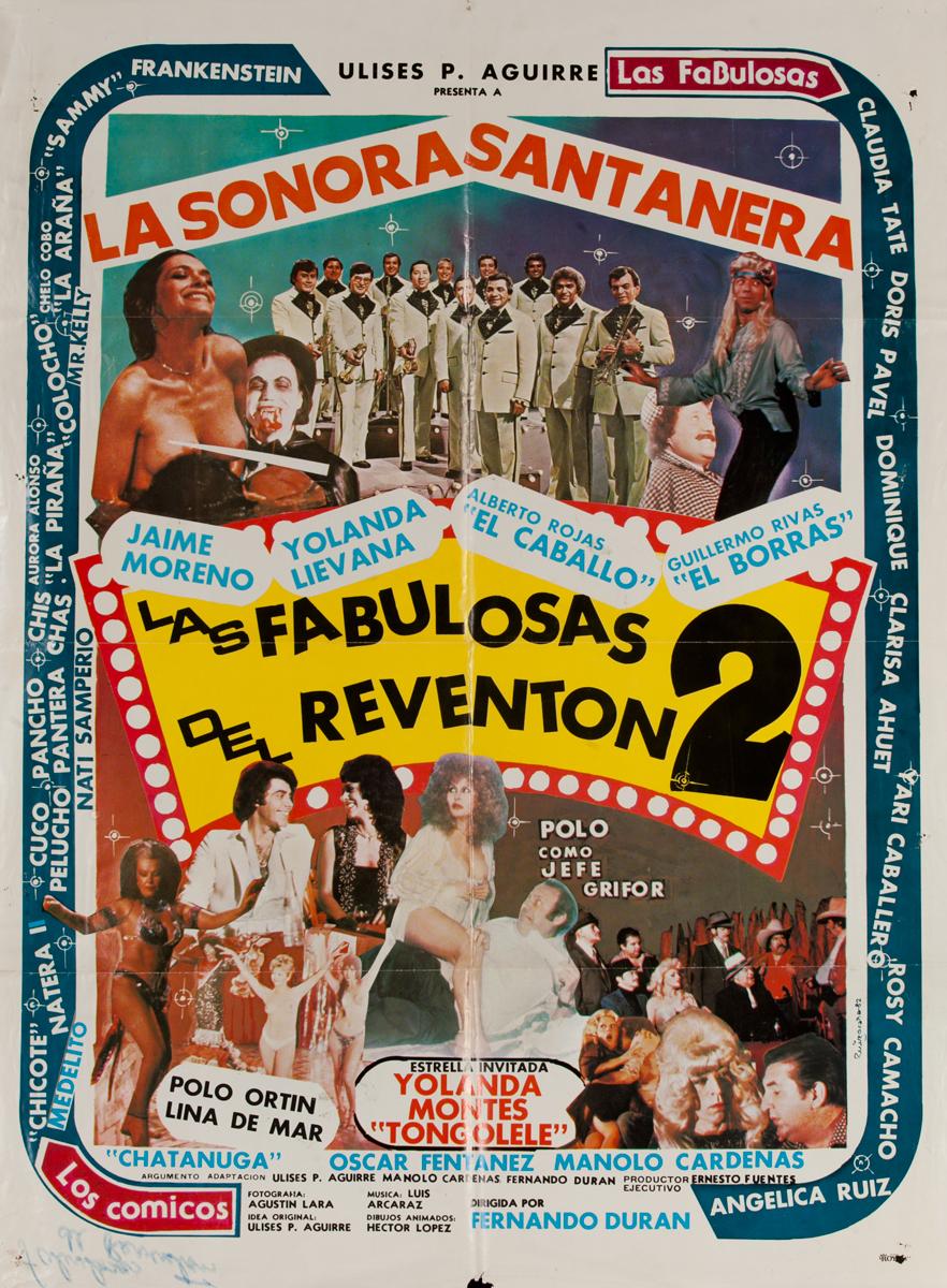 Las Fabulosas Del Reventon 2, Mexican Movie Poster