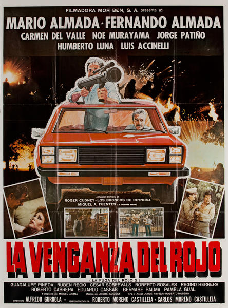 La Venganza Del Rojo, Mexican Movie Poster