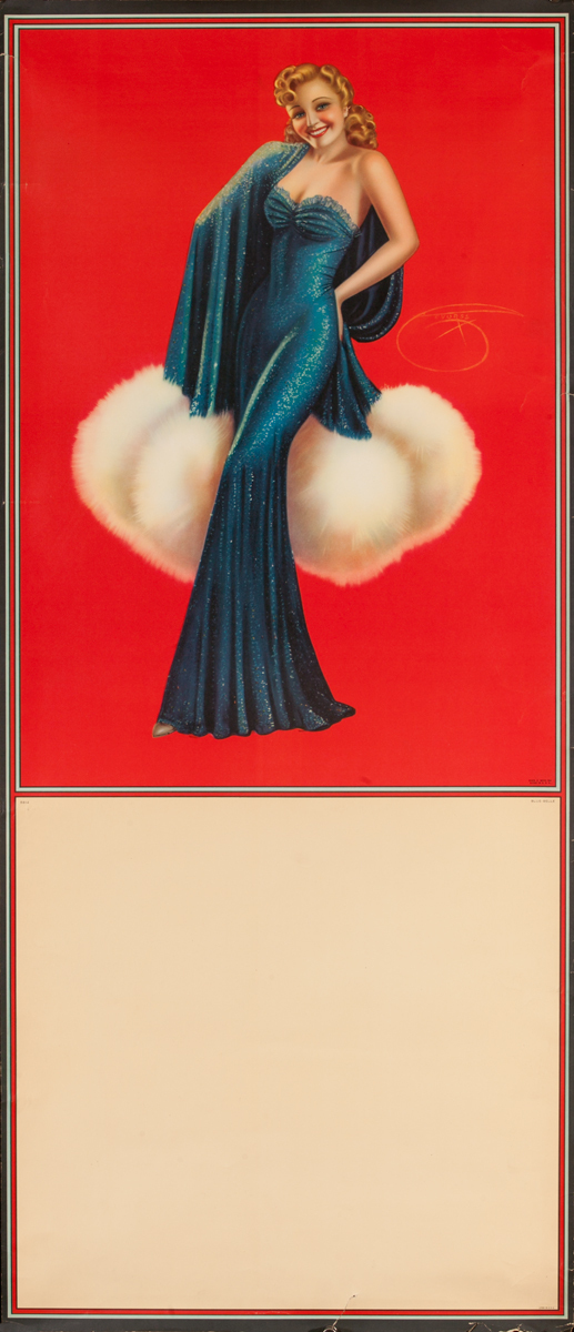 Pin Up Poster Blue Belle