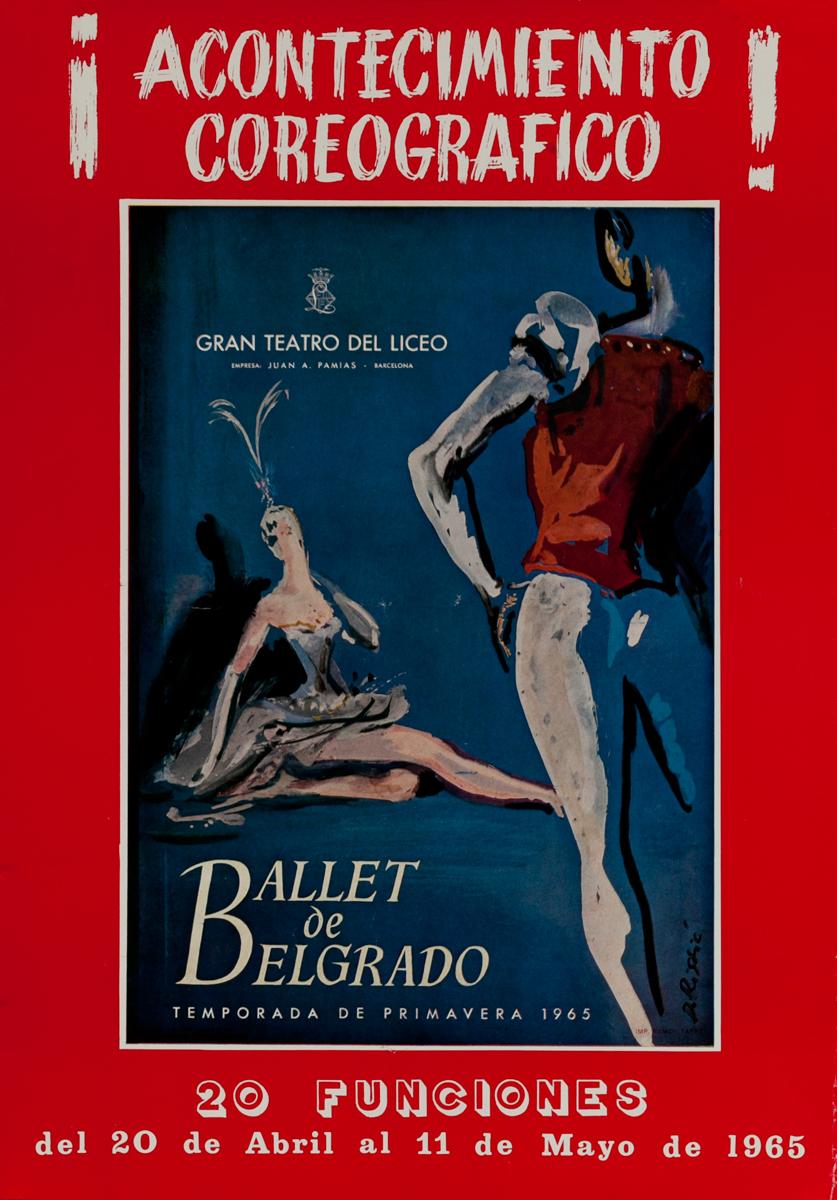 Ballet de Belgrado, Gran Teatro del Liceo, Barcelona Spain