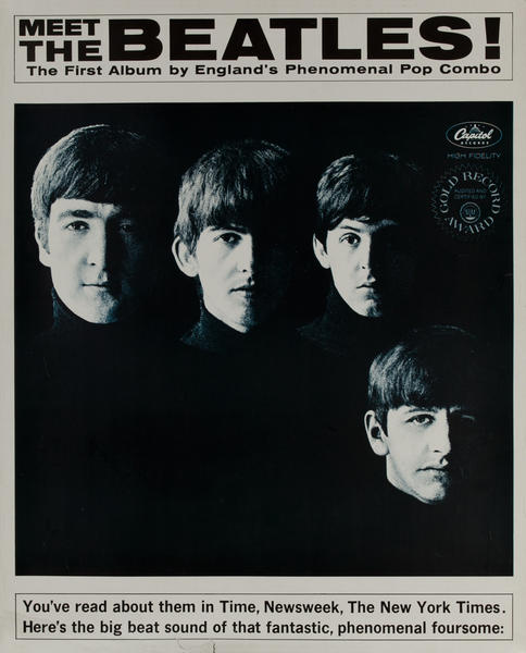 Meet The Beatles, Capitol Records, Album Poster