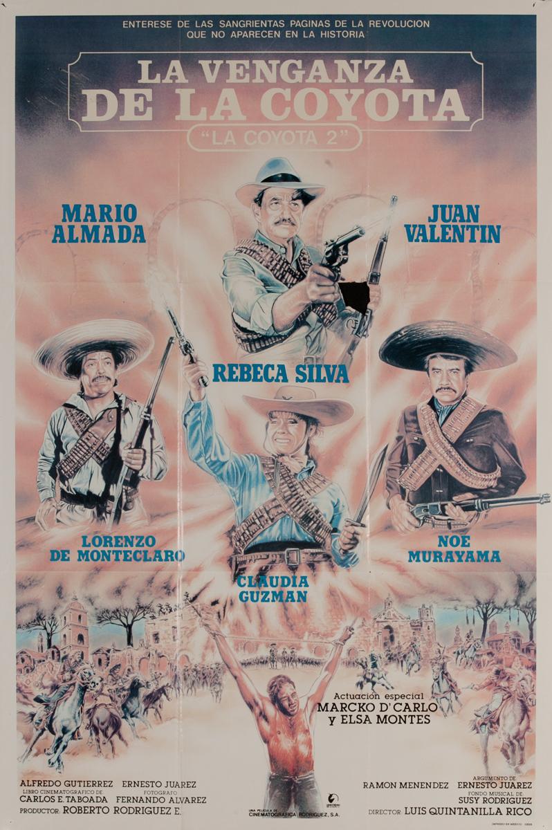 La Vengaza de la Coyota, Mexican Movie Poster