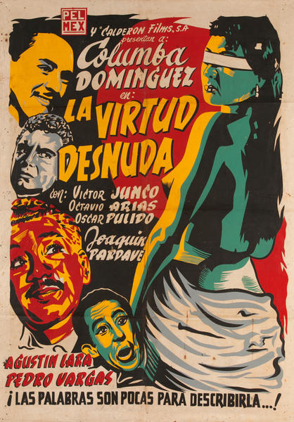 La Virtud Desuda, Mexican Movie Poster