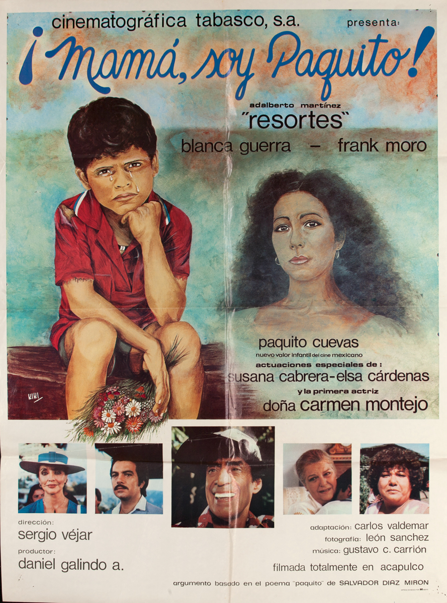 Mamá, soy Paquito, Mexican Movie Poster