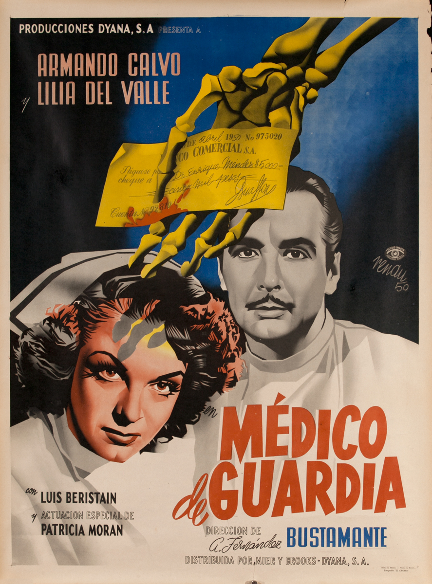 Medico de Guardia, Mexican Movie Poster