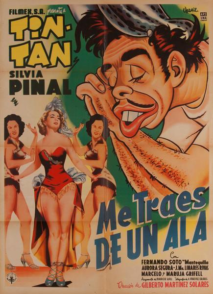 Me Traes de Un Ala, Mexican Movie Poster