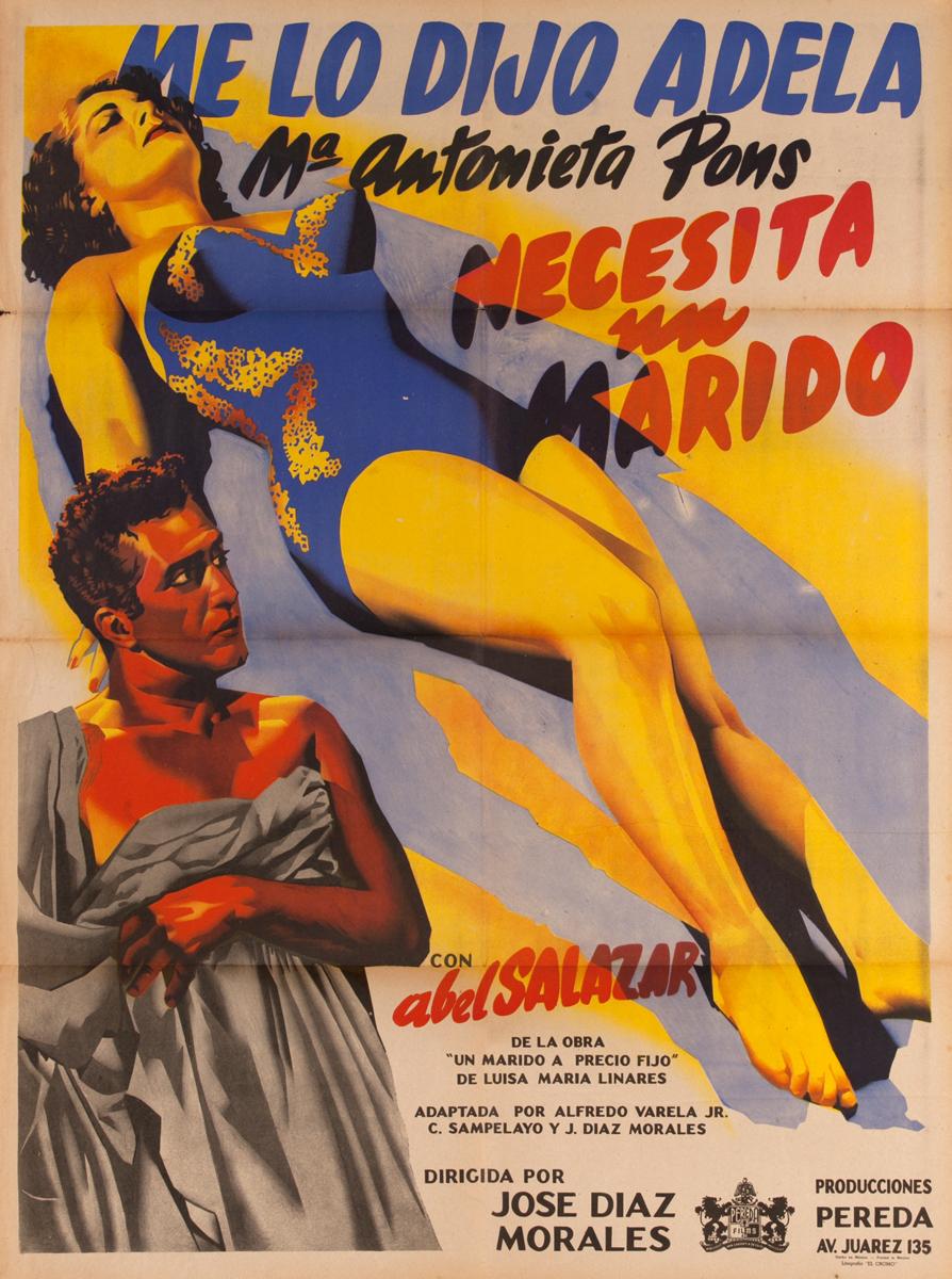 Me Lo Dijo Adela, Necesito un Marido ,Mexican Movie Poster