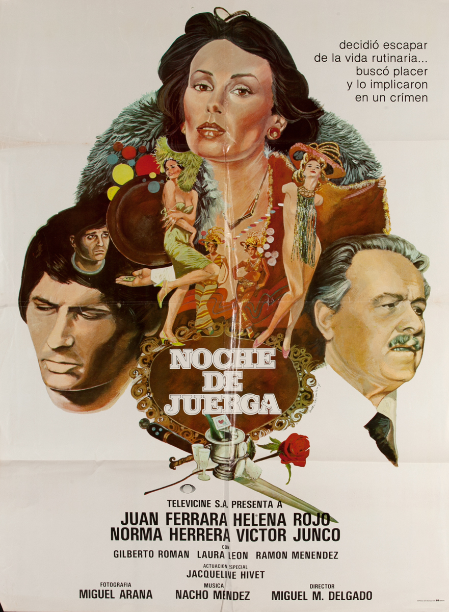 Noche de Juerga, Mexican Movie Poster
